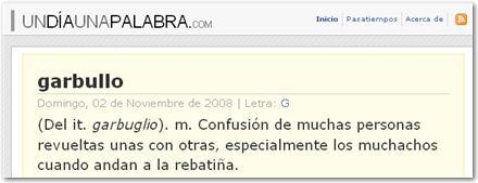 Un día, una palabra - Aprender palabras nuevas en español