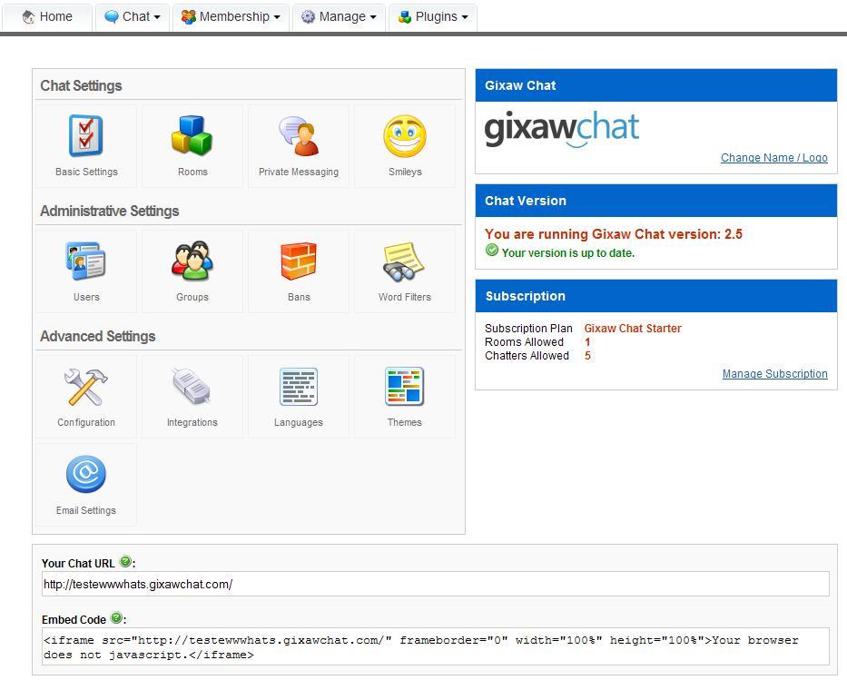 una sala de chat gratuita