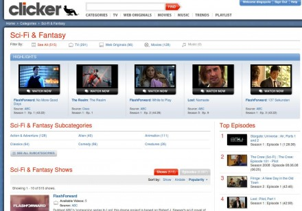 Sci-Fi & Fantasy TV Shows, Movies and Videos - Clicker.com