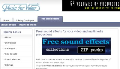 Free Sound Effects Collections