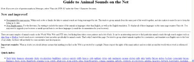 Guide to Animal Sounds on the Net