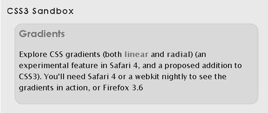 CSS3 Sandbox