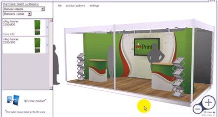Programa de dise o 3d de stands para ferias y congresos for Design de stand