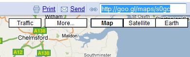 Acortador de URLs en Google Maps