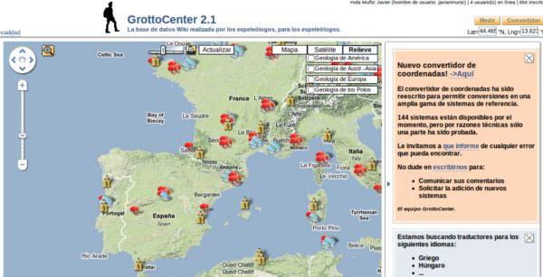 GrottoCenter – Guia colaborativo para exploradores de cavernas