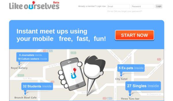 LikeOurselves - Conheça pessoas da sua cidade de acordo com a afinidade