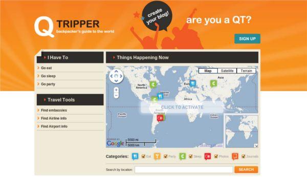 Qtripper – Guia colaborativo para mochileiros