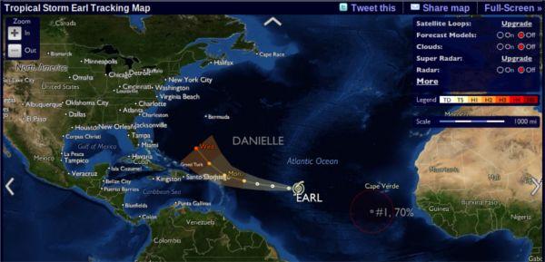 Stormpulse – Monitoramento de furacões e ciclones