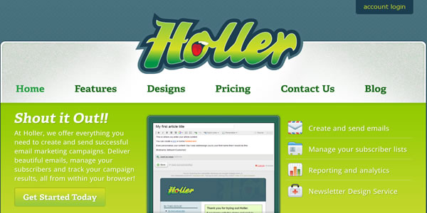 Holler – Gerenciamento de e-mail marketing de forma descomplicada