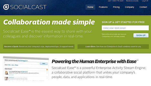 Socialcast – Serviço para criar microblogs corporativos