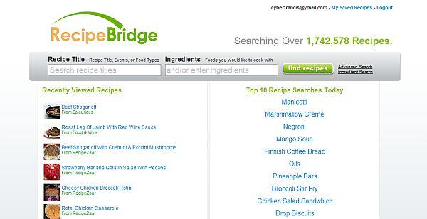 RecipeBridge – Buscador de receitas de culinária