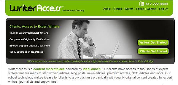 WriterAccess – Plataforma de criação de conteúdo remunerado entre clientes e redatores