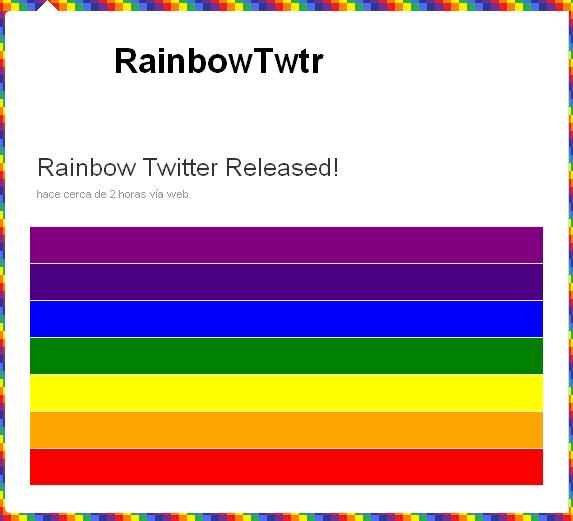 Twitter, infectado por Rainbow 31