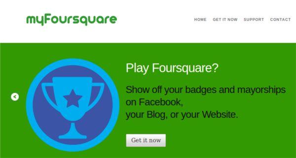 MyFoursquare – Coloque as últimas atualizações do Foursquare no seu blog