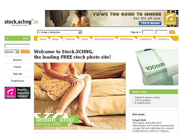 Stock Xchng - The Leading Free Stock Photography Site