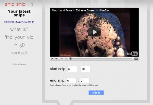 Para recortar y compartir vídeos de Youtube