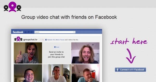 Si les gustan los hangouts (quedadas) de Google Plus, pero seguís usando más Facebook (seguramente aún tenéis todos los amigos allí) es posible que os interese groupchat.tv. Se trata de una aplicación para Facebook que nos permite crear un canal de videconferencia en el que podrán participar hasta 50 personas, 5 veces más que en los hangouts de Google+. Una vez creada la sesión, tendremos que enviar la url de la misma a los que participarán en la conferencia, siendo necesario únicamente identificarse como usuario en Facebook y darle los permisos adecuados a GroupChat. Avisan en Techcrunch que la aplicación