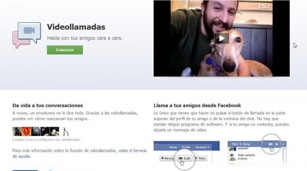 Facebook Videollamadas 2