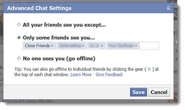 Hace unos días era noticia el nuevo visor de fotografías de Facebook…muy bonito y práctico, pero que más se comentó por su notable parecido a la red social de Google. Ahora parece que el equipo de Facebook estaría trabajando en otro aspecto de la red social, específicamente con el chat. La idea es ofrecer nuevas opciones a los usuarios al momento de conectarse al chat, que le permita decidir para quiénes de sus amigos será visible. Los ajustes que se piensan realizar son similares a lo que ofrece Google+ en su chat, que nos permite decidir que círculos deseamos tener
