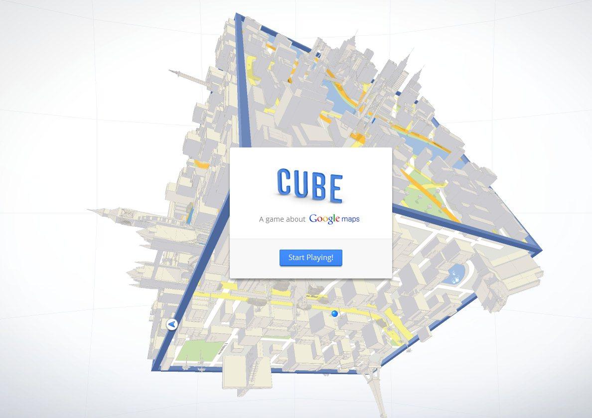 Les comentamos hace unas semanas y playmapscube se hace realidad hoy, un juego de Google basado en Google Maps desde donde podremos mover un gran cubo para llevar una bola por las calles del escenario 3D hasta su destino. Tendremos que encontrar siempre la ruta más corta para llegar a su destino, habiendo varios niveles correspondientes a diferentes ciudades, ideal para el turista casero. Creado para Google Chrome es, sin duda, una buena forma de entretener al mismo tiempo que se muestran las posibilidades de los nuevos navegadores web. Link: playmapscube.com | Vía fusible Fuente:wwwhatsnew