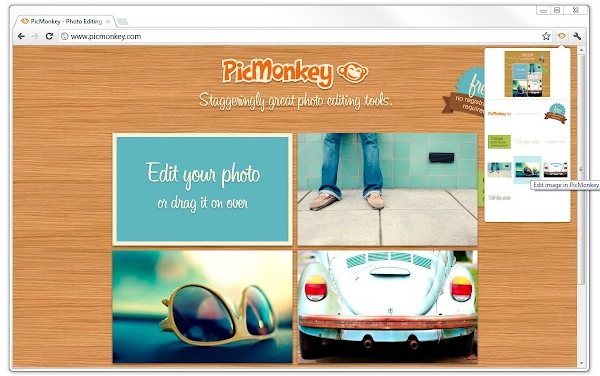 extension de Picmonkey chrome