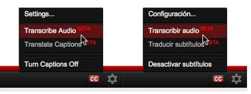 """Desde hace tiempo tenemos la posibilidad de poner subtítulos automáticos en los vídeos de Youtube, y a partir de hoy esta opción está disponible en español. En el blog de youtube nos lo cuentan: Cuando un video tenga audio reconocible en español, aparecerá el botón """"CC"""" en la parte inferior del reproductor, botón con el que podrán agregar subtítulos en español de manera instantánea. Sólo busquen este icono y hagan clic en la opción de """"Transcribir audio"""". Por supuesto, dependerá siempre de la calidad del audio y del acento, aunque en muchas ocasiones será posible reconocer lo que se dice"""