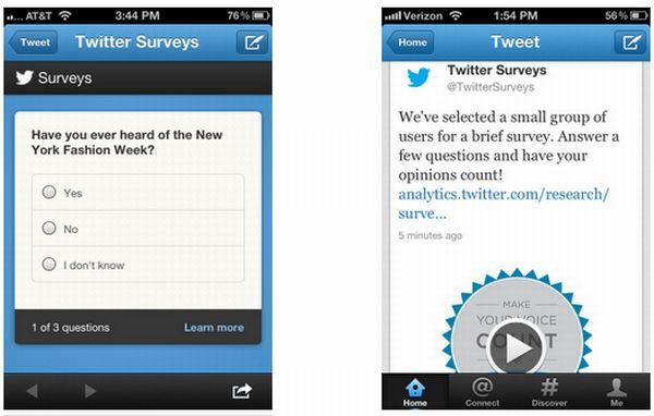 """A través de su blog de publicidad, Twitter acaba de anunciar su asociación con Nielsen para el lanzamiento de @TwitterSurveys, una nueva herramienta enfocada a los socios publicitarios para que puedan medir el impacto de sus marcas en Twitter. Esta nueva herramienta por el momento se está probando entre un pequeño grupo de anunciantes, y se plantea ponerla a disposición del resto de socios a principios del próximo año. De esta manera, con @TwitterSurveys, las marcas podrán conocer lo que los usuarios piensan de ellas, """"determinar la intención de compra, la concienciación global, y otras métricas de publicidad y de"""