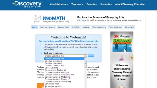 webmath discovery