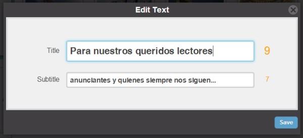 diapositiva de texto