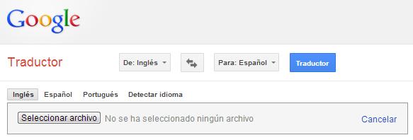 traduccion cargar archivo