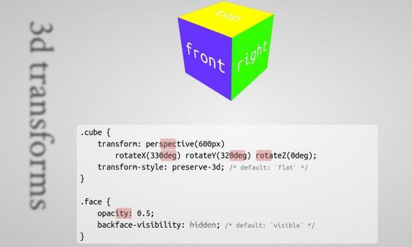 cubo CSS3D impress js