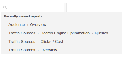 Acceso rápido a informes