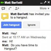 Hangouts en Google Chat