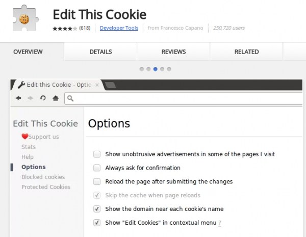 extension editthiscookie