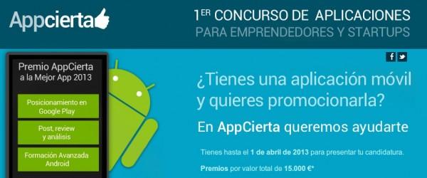 Primer Concurso APPCIERTA de aplicaciones Android para Emprendedores y Startups