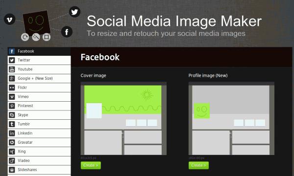 Aplicación web nos ayuda a crear imágenes para los perfiles de Redes Sociales