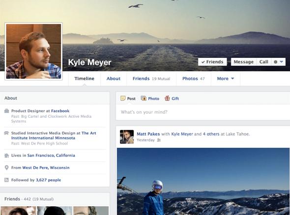 Línea cronológica de Facebook