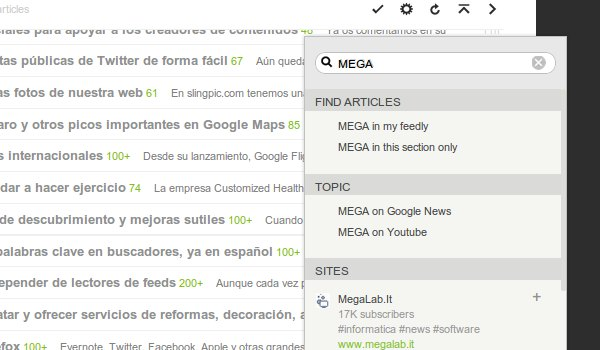 buscador feedly
