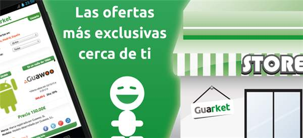 Guarket, ofertas publicadas por el comercio local en web y móvil