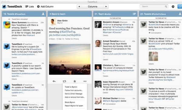 Nueva versión de tweetdeck para Mac