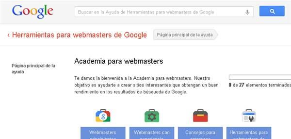 Academia para webmasters de Google, ya en español
