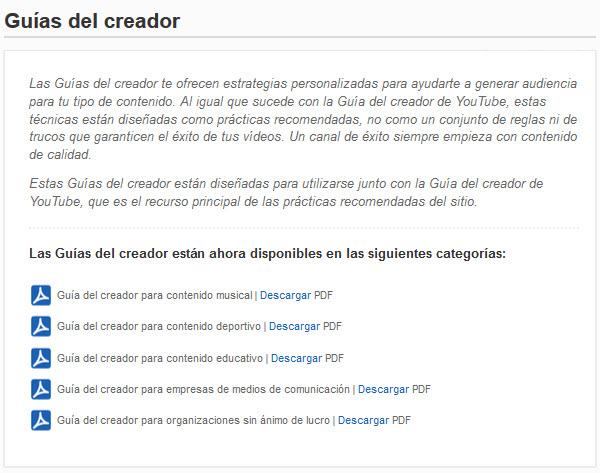 Guías YouTube