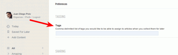 feedly tags