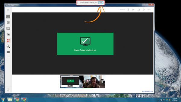 Hangouts Remote Desktop