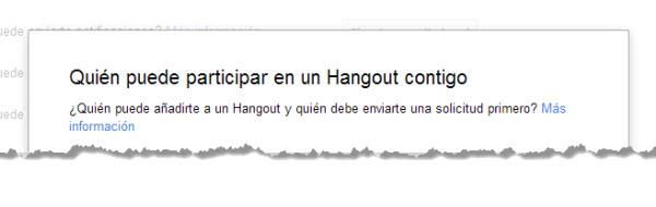 Solicitudes de Hangouts