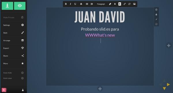 slides editor diapositivas