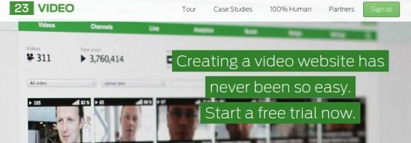 23video, para crear tu propio portal de vídeos, salta al HTML5