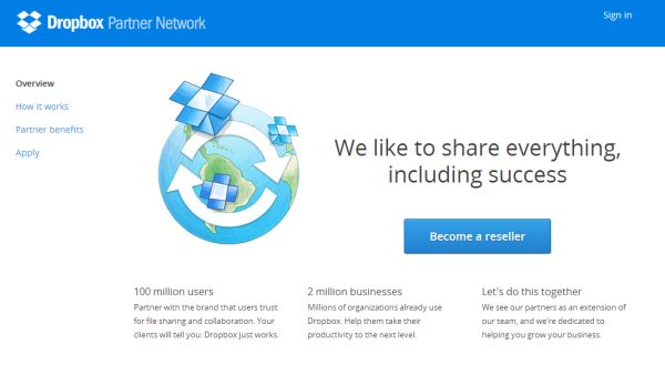 Dropbox Partner Network