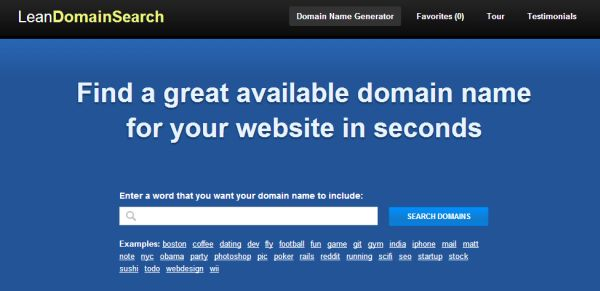 Lean Domain Search