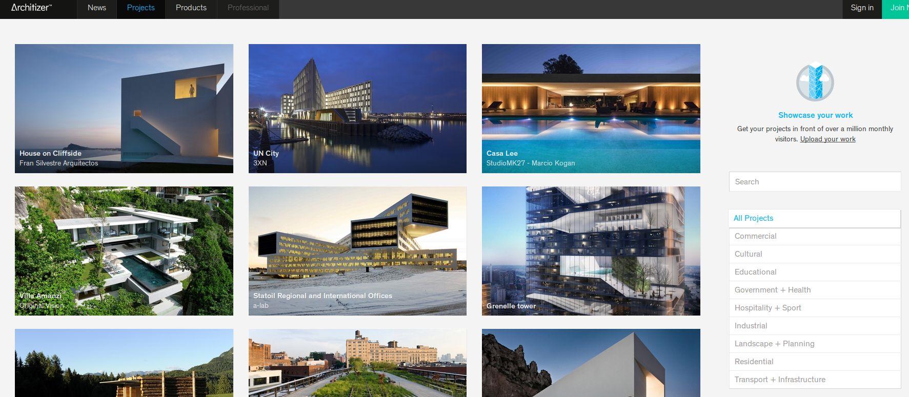 Architizer una red social para arquitectos y dise adores - Disenadores de interiores espanoles ...